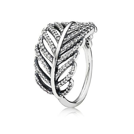 Light As A Feather Ring, Clear CZ