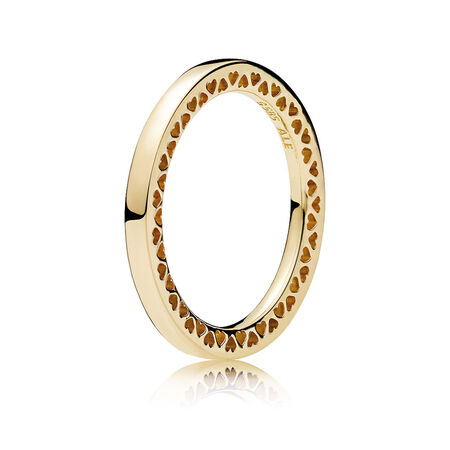 Classic Hearts of PANDORA, 14K Gold