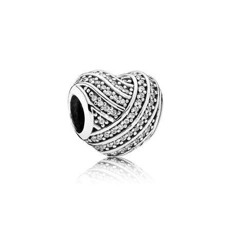 Love Lines, Clear CZ, Sterling silver, Cubic Zirconia - PANDORA - #791885CZ