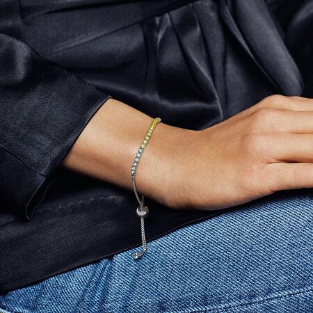 Bracelet Fil scintillant multicolore, cz multicolore