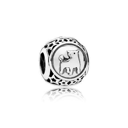 Signe astral Taureau, Argent sterling, Aucun autre matériel, Aucune couleur, Aucune pierre - PANDORA - #791937