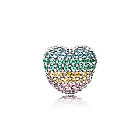 Open My Heart Pavé Clip, Multi-colour CZ