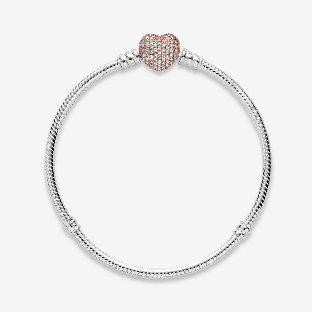 pandora bracelet rose gold heart
