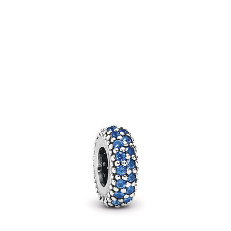 Inspiration profonde, cristal bleu, Argent sterling, Aucun autre matériel, Bleu, Cristal - PANDORA - #791359NCB