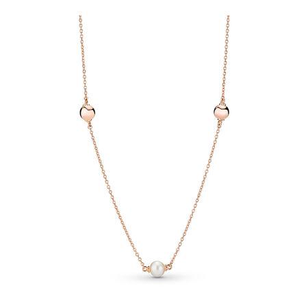 Contemporary Pearls Necklace, PANDORA Rose™
