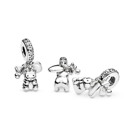 Baby Treasures, Clear CZ, Sterling silver, Enamel, White, Cubic Zirconia - PANDORA - #792100CZ