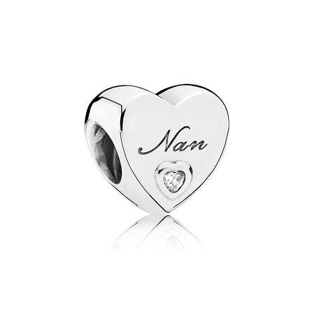 Nan's Love Charm, Clear CZ