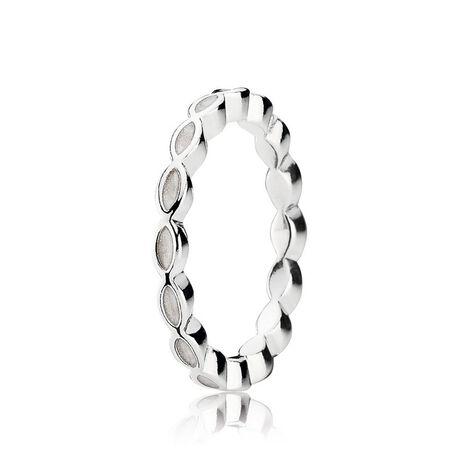 Better Together Stackable Ring, White Enamel