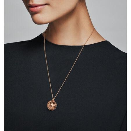 Harmonious Hearts Chime Necklace, PANDORA Rose™