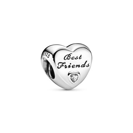 Ma meilleure amie, cz incolore, Argent sterling, Aucun autre matériel, Aucune couleur, Zircon cubique - PANDORA - #791727CZ
