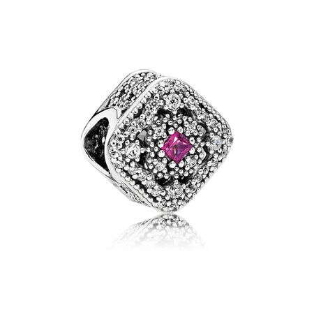 Fairytale Treasure, Cerise Crystal & Clear CZ