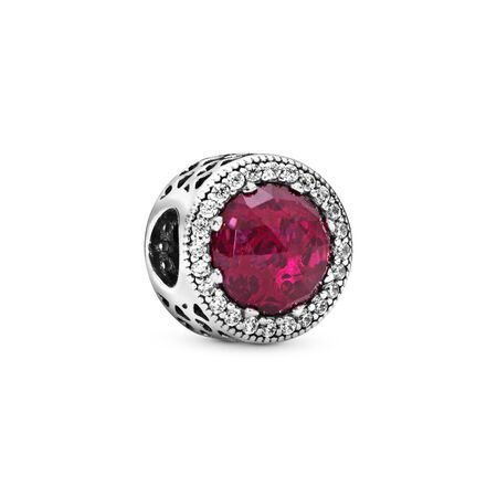 Sparkling Cerise Pink Charm, Sterling silver, Pink, Mixed stones - PANDORA - #791725NCC