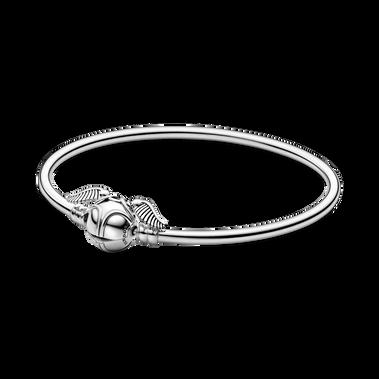 Harry Potter de Pandora Moments, bracelet rigide à fermoir en forme de vif d'or