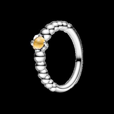 November Honey Beaded Ring