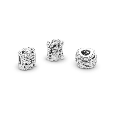 Charm Tourbillon de grains scintillants, cz incolore