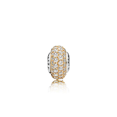 STABILITY, 14K Gold & Clear CZ
