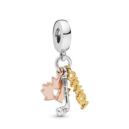 Charm-pendentif Canada, Sterling Silver, Pandora Rose and Pandora Shine, Aucun autre matériel, Aucune couleur, Aucune pierre - PANDORA - #798028