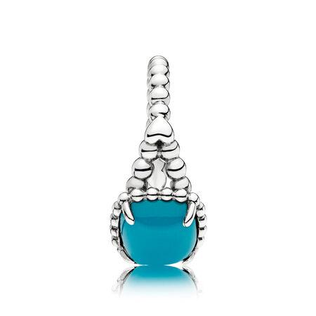 Bague Esprit vivant, cristal bleu océan