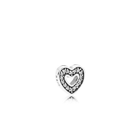 Captured Heart Petite, Clear CZ