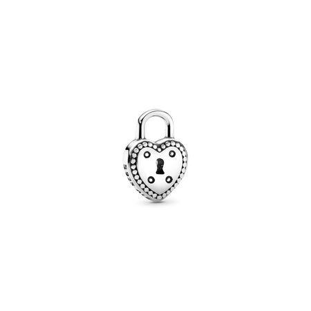Love Lock Petite Charm, Sterling silver - PANDORA - #796569