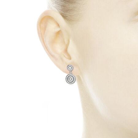Radiant Elegance, Clear CZ, Sterling silver, Cubic Zirconia - PANDORA - #290688CZ