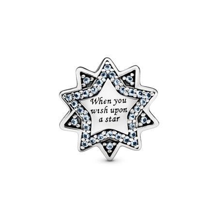 Charm Disney, Quand on prie la bonne étoile, émaux et cristaux bleu clair