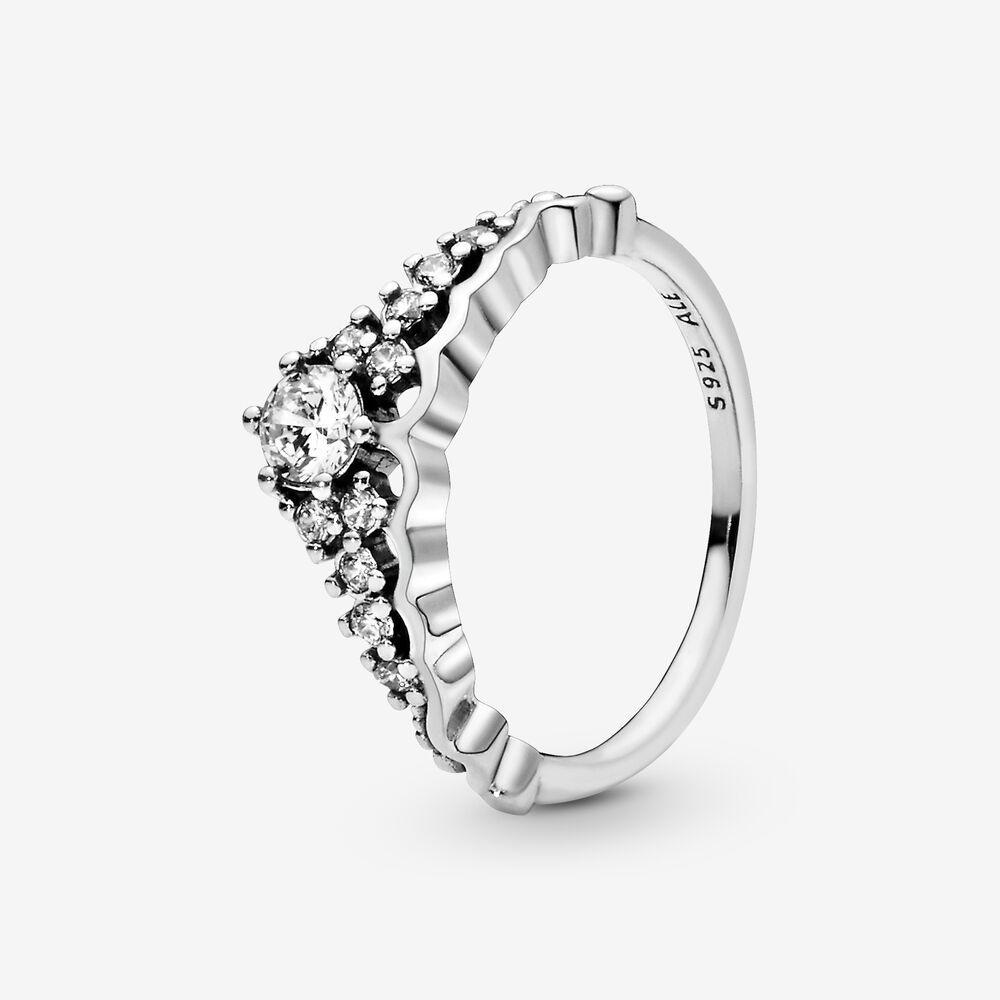 outlet 0eb84 ba1c9 Fairytale Tiara Ring with Cubic Zirconia | Silver | Pandora ...