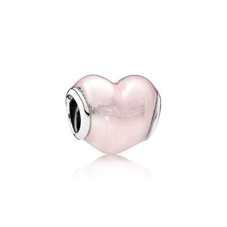 Glittering Heart, Soft Pink Enamel