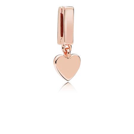 PANDORA Reflexions™ Floating Heart Charm, PANDORA Rose™