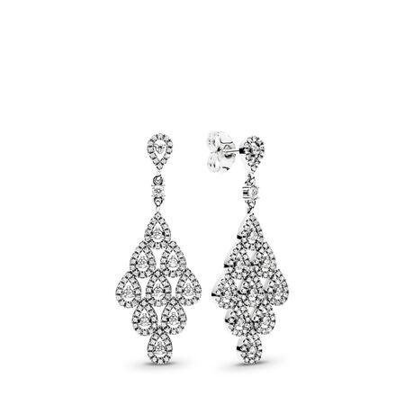 Cascading Glamour, Clear CZ, Sterling silver, Cubic Zirconia - PANDORA - #296201CZ