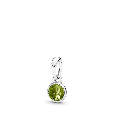August Droplet, Peridot, Sterling silver, Green, Peridot - PANDORA - #390396PE