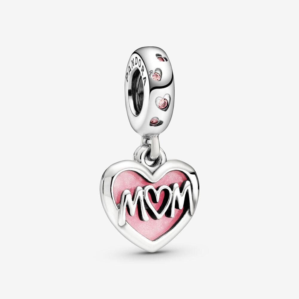 Breloque Cœur avec inscription « Mum » | Argent sterling | Pandora ...