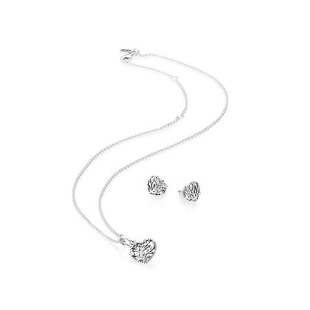 Flourishing Hearts Jewellery Gift Set, Sterling Silver - PANDORA - #B800872