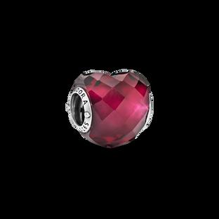Charm Cœur rose fuchsia