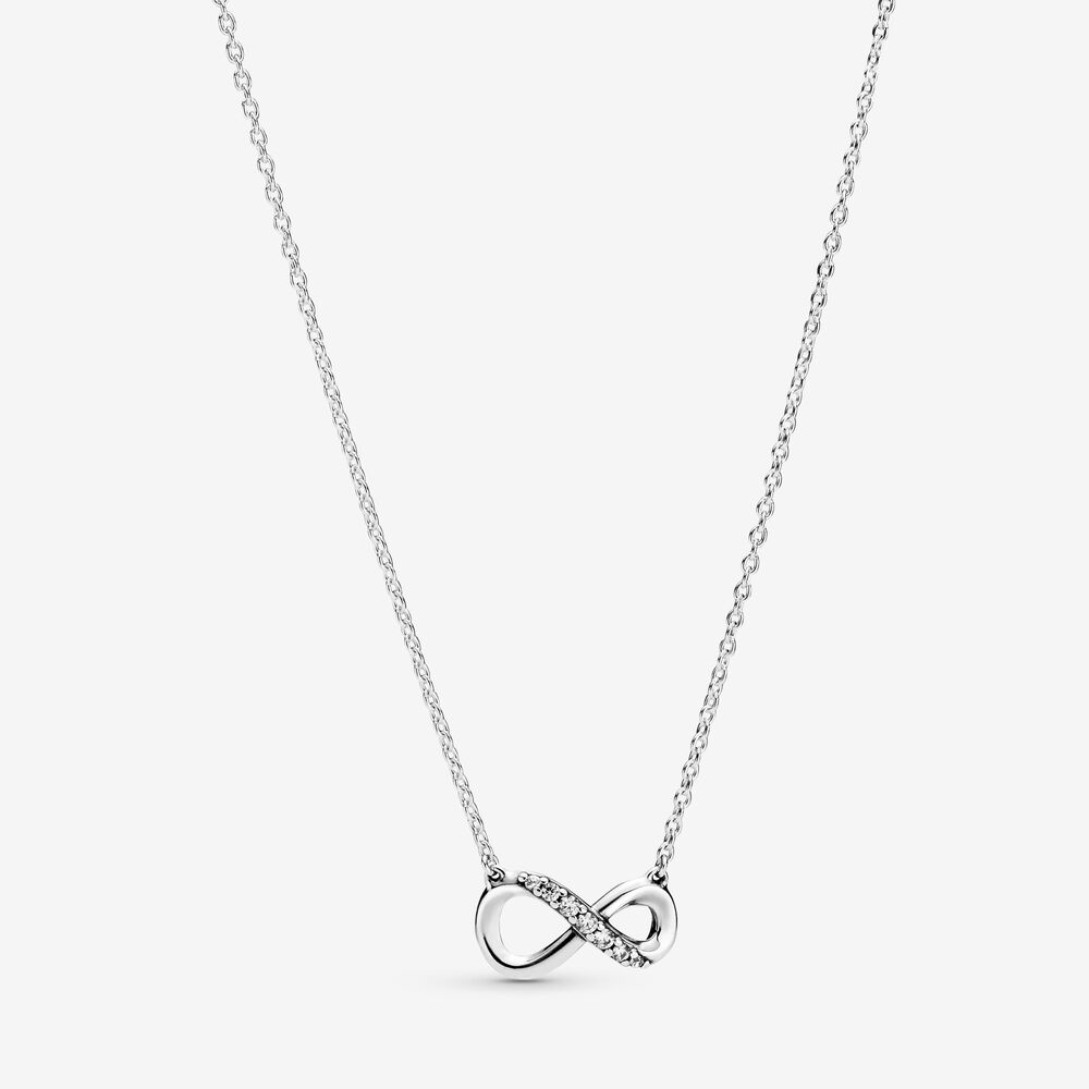 Sparkling Infinity Collier Necklace | Sterling silver | Pandora Canada