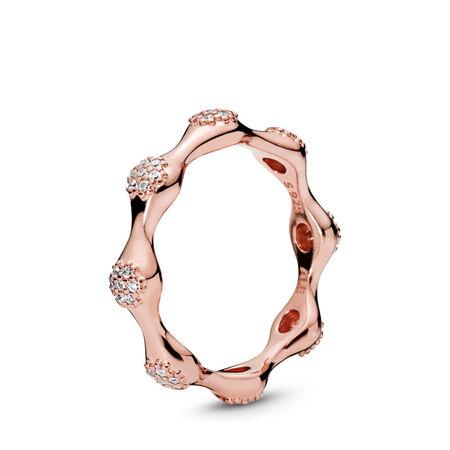 Bague en PANDORA Rose Modern LovePods, cz incolore, PANDORA ROSE, Aucun autre matériel, Aucune couleur, Zircon cubique - PANDORA - #187295CZ