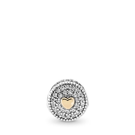 AFFECTION, Clear CZ, Two Tone, Silicone, Cubic Zirconia - PANDORA - #796085CZ
