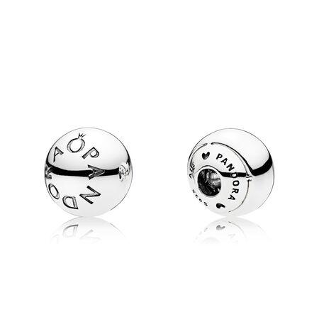 PANDORA Logo Open Bangle End Caps, Sterling silver - PANDORA - #796489