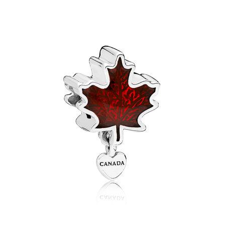 Charm J'aime le Canada, émail rouge