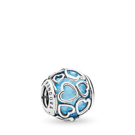 Au cœur de l'amour, cristal bleu ciel, Argent sterling, Aucun autre matériel, Bleu, Cristal - PANDORA - #792036NBS