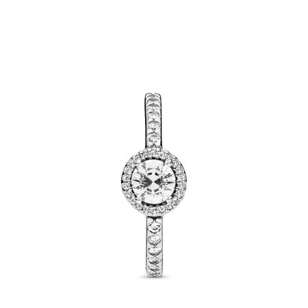 Classic Beauty Ring, Clear CZ, Sterling silver, Cubic Zirconia - PANDORA - #190946CZ