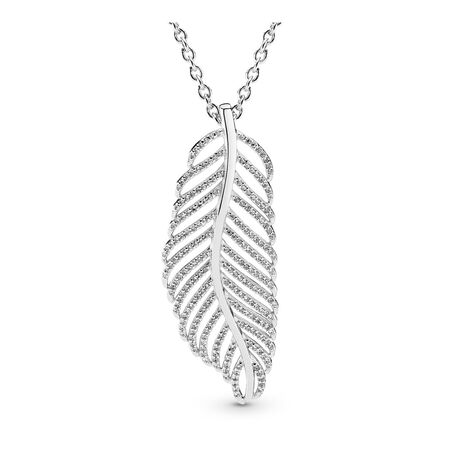 Light as a Feather, Clear CZ, Sterling silver, Cubic Zirconia - PANDORA - #390397CZ
