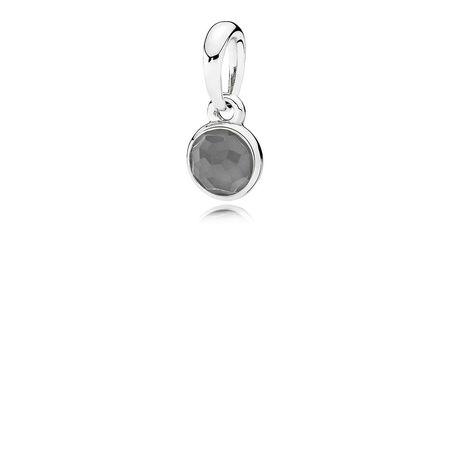 Gouttelette de juin, pierre de lune grise