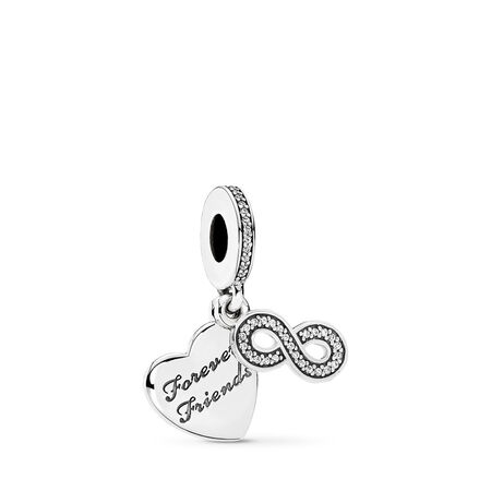 Forever Friends, Clear CZ, Sterling silver, Cubic Zirconia - PANDORA - #791948CZ