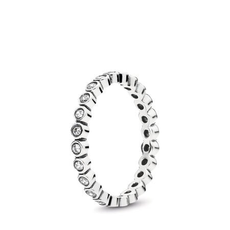 Alluring Petite Brilliant Stackable Ring, Clear CZ, Sterling silver, Cubic Zirconia - PANDORA - #190941CZ