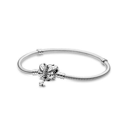 Decorative Butterfly Clasp Charm Bracelet