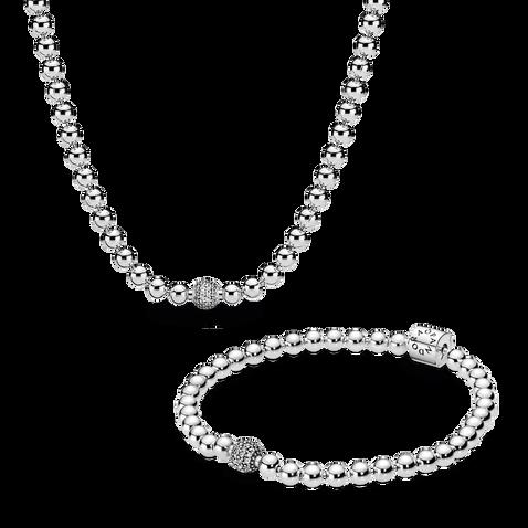 Beads & Pavé Jewellery Set