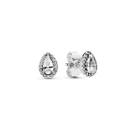 Radiant Teardrops, Clear CZ, Sterling silver, Cubic Zirconia - PANDORA - #296252CZ