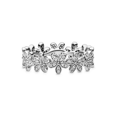 Daisy Flower Ring, Sterling silver, Cubic Zirconia - PANDORA - #190934CZ