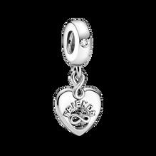 Charm-pendentif en forme de cœur Amies pour la vie (Friends Forever)